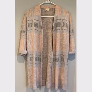 Anthropologie Abstractism Cardi in Peach